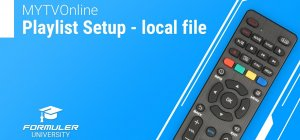 MYTVOnline Playlist Setup - local file - YouTube
